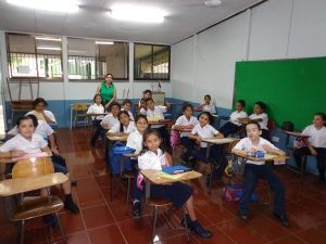 July 2013: Teach the Grade 3's a little bit about snow and Canadian winters. (Alajuela, Costa Rica)