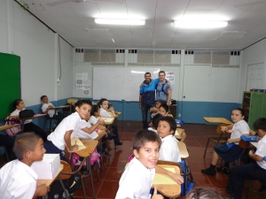 July 2013: Dave and I welcomed by all the teachers and students. (Alajuela, Costa Rica)