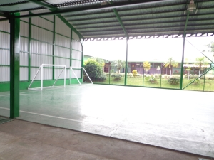 July 2013: Near every school will always be a football pitch. (Alajuela, Costa Rica)