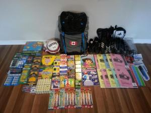 July 2013: Through the generosity of friends and co-workers, we managed to collect 27lbs worth of supplies. (Ottawa, Canada)
